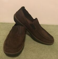 Timberland Earthkeepers Suede Leather Loafer Shoes Men Sz 8.5 - Chocolate Brown