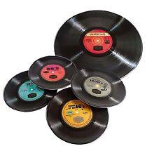 Set of 5 Retro Record Single's - Melamine Plates