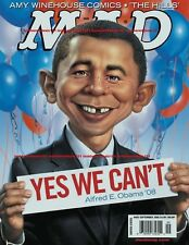 MAD MAGAZINE COVER PHOTO 5X7 BARACK OBAMA YES WE CAN'T Sep 2008 Free Ship