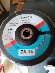 Flap Discs 180mm x 22mm Blue Zirconium ZA36 Euro Cut Brand 5, 10, 20, 50 & 100