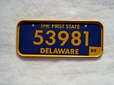 1984 DELAWARE Post Cereal License Plate # 53981