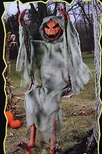 5 FT SWINGING DEAD PUMPKIN ZOMBIE HALLOWEEN DECORATION PORCH OUTDOOR SWING