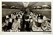 Cartolina Aviazione - In Un Aereo KLM I Passeggeri Fanno Colazione - Non Viaggia