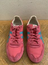 Asics Onitsuka Tiger Womens Serrano Shoes Pink D159L Textured Suede Women's 11