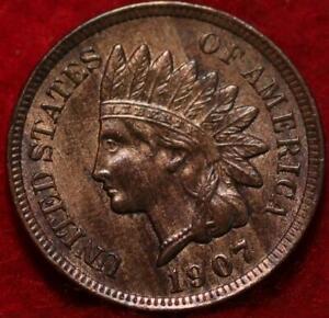 Uncirculated 1907 Philadelphia Mint  Indian Head Cent