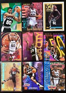 DAVID ROBINSON NBA N-TENSE Gold ULTRA Foil Insert  Lot RARE (x9 Cards)