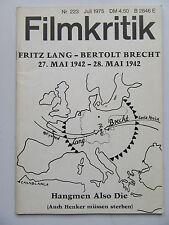 Critique NR 223, juillet 1975, Fritz Lang-Bertolt Brecht