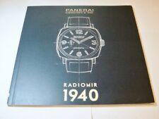 PANERAI RADIOMIR 1940 Watch Book Catalogue 2015