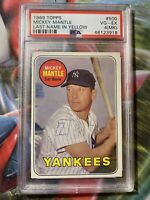 1969 Topps Mickey Mantle Last Name in Yellow #500 PSA 4 (MK) VG-EX