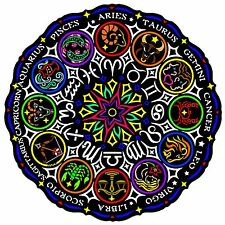 Zodiac Mandala - Large 20x20 Inch Fuzzy Velvet Coloring Poster