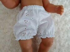 "BJB dolls clothes White embroidery anglais knickers pants fit 18"" baby born doll"