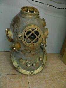 "Antique Heavy diving Helmet ~US Navy/Mark V/Sea Scuba/Morse/Boston -18"" Replica"