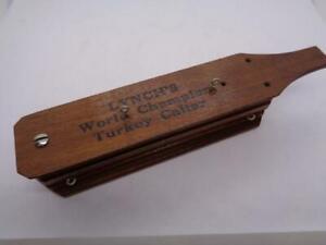 Vintage Lynch's World Champion Turkey Call Model 102 Birmingham 3 Hole 1958 MINT