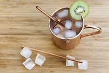 4 x  Copper Straight Metal Drinking Straws  Reusable Eco Straw .