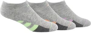 adidas 252893 Women's Cushioned No Show 3-Pack Socks Size 5-10
