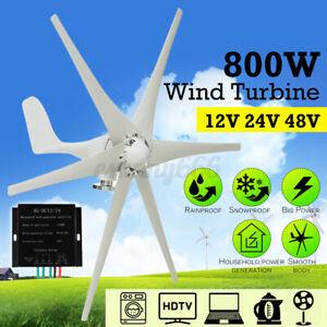800W 6 Blades Wind Turbine Genertor Charge Kit 12/24/48V Aerogenerator Power UK