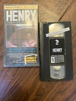 HENRY PORTRAIT OF A SERIAL KILLER - DIRECTOR'S EDITION (BLOCKBUSTER VHS 1998)