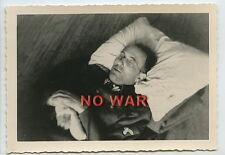 WWII GERMAN PHOTO ELITE DIVISION Oberführer WOUNDED SLEEPS OR KIA / DEAD