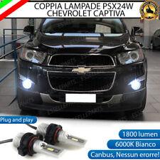 KIT LED PSX24W CHEVROLET CAPTIVA FENDINEBBIA 1800 LUMEN CANBUS 6000K BIANCO