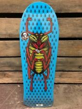 Old School Powell Peralta OG Bug Roach 80's Reissue Skateboard Deck Blue