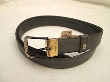 AUTHENTIQUE  ceinture  PIERRE CARDIN  cuir  BEG  vintage T 85