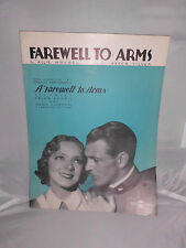 VTG Sheet Music - Farewell to Arms Allie Wrubel & Abner Silver 1933 Hayes Cooper