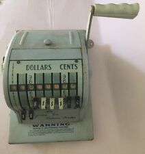 Vintage Paymaster Series 8000 Check Ribbon Writer with Key