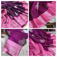 Kanchipuram silk saree Designer indian sari Ethnic pakistani formal party wear