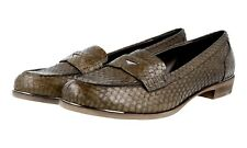 LUXUS MIU MIU PYTHON PENNY LOAFER SLIPPER SCHUHE 5D8048 BRAUN NEU 41 41,5 UK 8