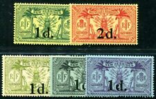 NOUVELLES HEBRIDES 1920 Yvert 64-68 * AUFDRUCKE 88€(F3822
