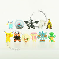 11 Pcs Pokemon Kyurem Zekrom Emboar Whimsicott Figures Cake Topper Toys Gifts