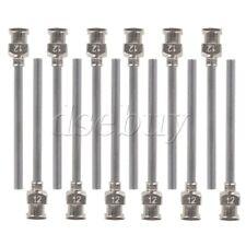 "12pcs Stainless Steel Industrial Dispensing Blunt Needle 1.5"""" 12Ga Silver"