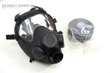 More details for af2 new nato black gas mask new filter french army special forces sas cos issue