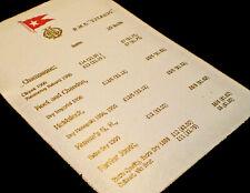 White Star Line, RMS Titanic, April 14th 1912, Champagne List 1912 Replica.