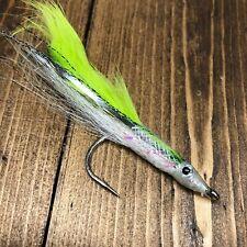 Village Tackle Big Eye Size 5//0 Closed Eye Fish Hook 3pcs Bass Striper Chartreus