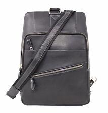 Women Leather Black Backpack Satchel Rucksack Sling Shoulder School College Bag