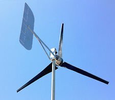 Wind Turbine Generator LOW WIND 1000 Watt 3 black Blades 48 AC 3.75 kWh