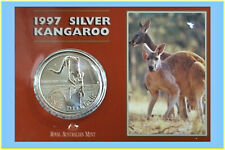 1997 $1 Kangaroo Silver Frosted Uncirculated 1 oz. Coin