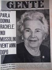 GENTE n°14 1964  Rachele Mussolini parla di Mussolini a puntate  [C91]
