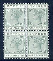 Cyprus Queen Victoria 1892-4 die 2 ½p mint unmounted block 4 (2017/06/12#18)