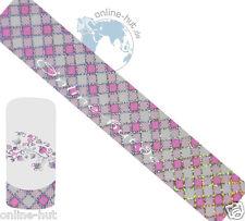 Transferfolie Karo-Pink-Hintergrund Transparent, Nageldesign, Nr.TRF-190