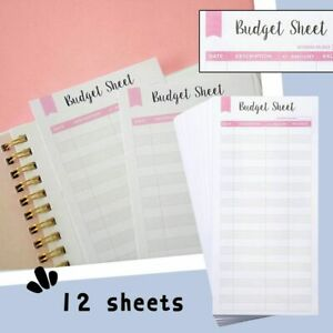 Size Budget Wallet Budget Sheets Expense Tracker Budget Envelopes Budget Binder