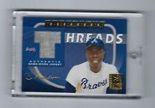 2001 Donruss Elite Throwback Threads Hank Aaron HOF Braves Jersey 086/100