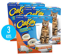 3 Pack - Citikitty Cat Toilet Training Kit - Save $