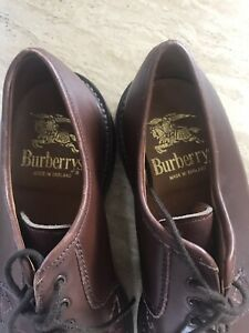Vintage Burberry Shoes UK 8 Burberry Mens Handmade Shoes Brown Burberry's