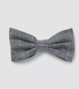 Gap Baby Boy / Toddler Chambray Bow Tie Clip Cotton Gray One Size NWT