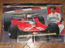 # POSTER F.1 JODY SCHECKETER FERRARI T.4 1979 CM.90X60 WORLD CHAMPION MONDIALE