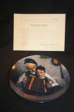 Bradford Exchange Knowles Collector Plate - Norman Rockwell Music Maker Cp2