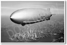 USS Macon 1933 Flying Over NY - NEW Vintage Photograph POSTER
