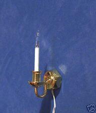 1/12 dolls house Miniature Single Candle Wall Sconce Light Lighting DIY Lamp LGW